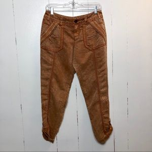 Anthropologie - Marrakech Rust Convertible Capris